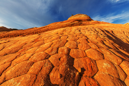 nature beauty: Sandstone formations in Utah, USA.Yant flat.
