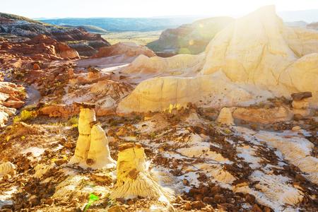 grandeur: Sandstone formations in Utah, USA. Stock Photo