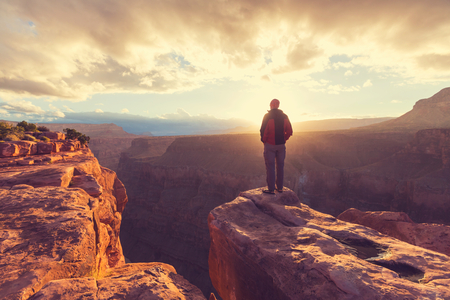 Rainbow above Grand Canyon Stock Photo - 47938849