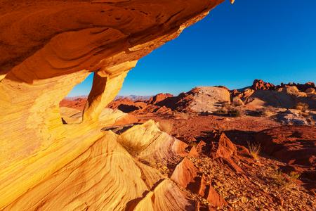 ファイアー州立公園、ネバダ州、アメリカ合衆国の谷 写真素材