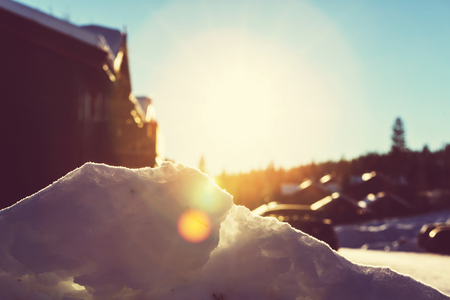 wintry: Mountain village in the Winter