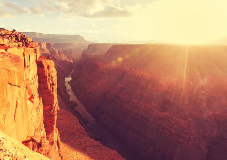 grand canyon: Rainbow above Grand Canyon