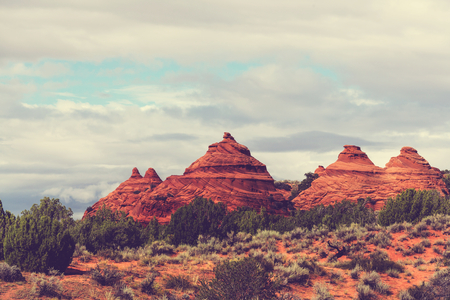 formations: Sandstone formations in Utah, USA