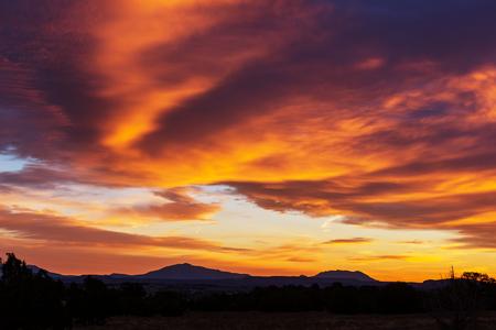 mountain sunset: Sunset in mountains