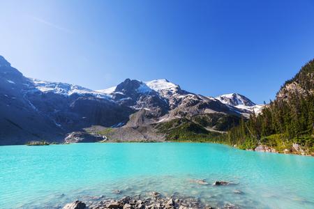 serenity: Beautiful Joffre lake in Canada Stock Photo
