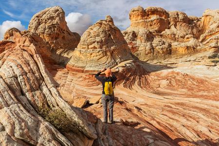 utah: Hike in Utah mountains
