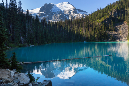 lake: Beautiful Joffre lake in Canada Stock Photo
