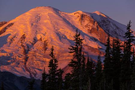man waterfalls: Mount Rainier national park, Washington