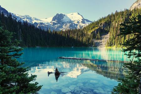 Hermoso lago Joffre en Canadá Foto de archivo - 48602811