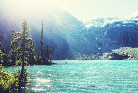 british columbia: Beautiful Joffre lake in Canada Stock Photo