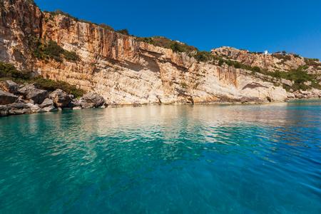coastlines: Beautiful sea landscapes on Zakynthos Island in Greece