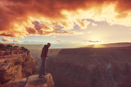 Hike in Grand Canyon 写真素材
