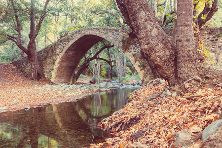landscape nature: Medieval Venetian bridge in Cyprus