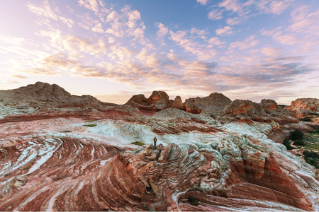 vermilion: Vermilion Cliffs National Monument Landscapes at sunrise Stock Photo