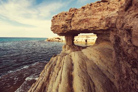 napa: Beautiful sea shore in Cyprus Stock Photo