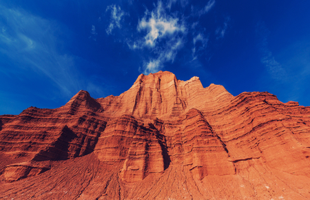 valley of the temples: Temples of the Moon and Sun in Cathedral Valley in Capitol Reef National Park, Utah