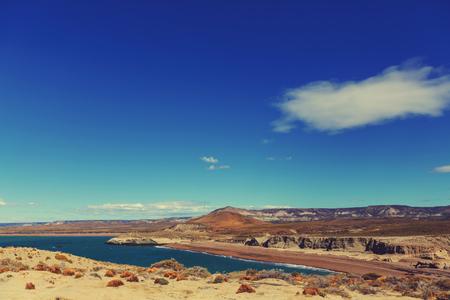 patagonian: Patagonian Coast in Argentina Stock Photo