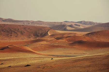 namib: Sand dunes in Namib desert Stock Photo
