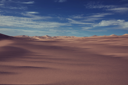 namib: Sand dunes in Namib desert Stock Photo