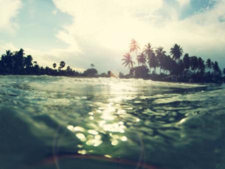 Tropical beach background blur