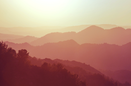 serenity: Scenic view of the mountains in Cyprus
