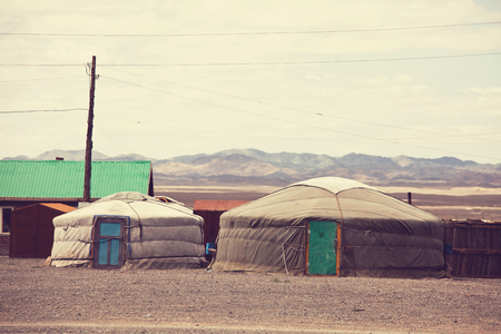 ger: Traditional yurts home of Mongolia Editorial