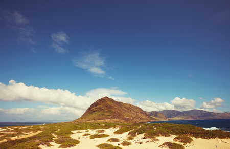 paradise bay: Picturesque view of Hawaii island Stock Photo