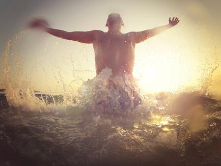 joyfull: Joyfull scene on the  beach