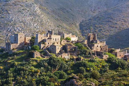 messenia: Old traditional  village of Vathia at Mani, Greece