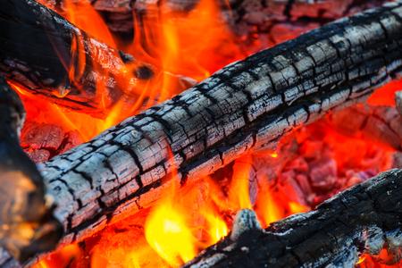 coals: Campfire, close up shot Stock Photo