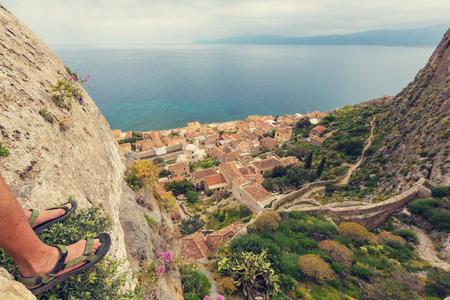 Beautiful ancient town  Monemvasia, Greece Stock Photo