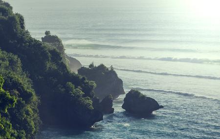 stratovolcano: Sunset on Bali Stock Photo
