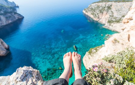 sea view: feet above the sea bay
