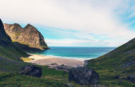 destination scenics: Lofoten islands, Norway Stock Photo
