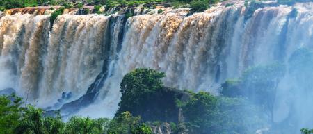 Iguassu Falls, Instagram filter Stock Photo