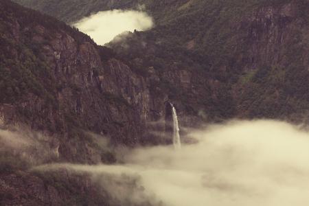 hardanger: Waterfall in Norway