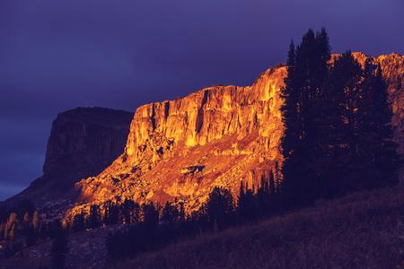 teton: Grand Teton National Park, Wyoming, USA. Stock Photo