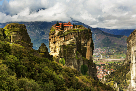 monastery nature: Meteora monasteries in Greece.