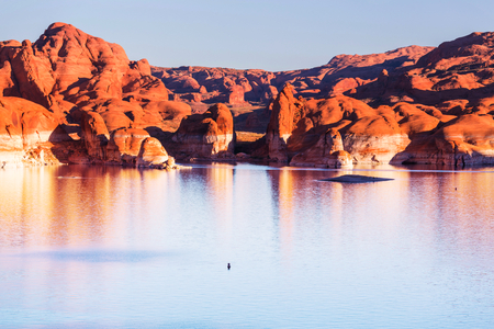 gunsight: Lake Powell, Alstrom point, USA Stock Photo