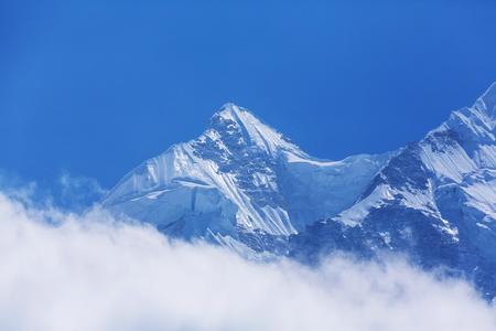 Scenic view of mountains, Kanchenjunga Region, Himalayas, Nepal. Stock Photo