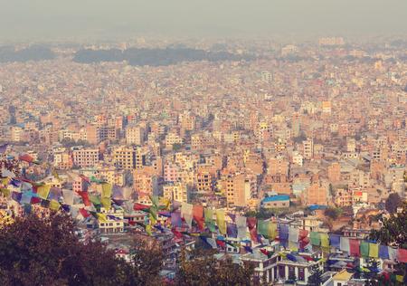 población: la ciudad de Katmandú en Nepal