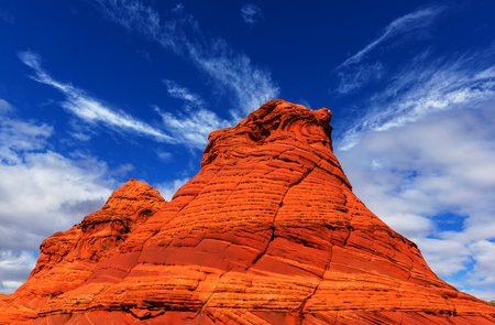 grandeur: Sandstone formations in Utah, USA