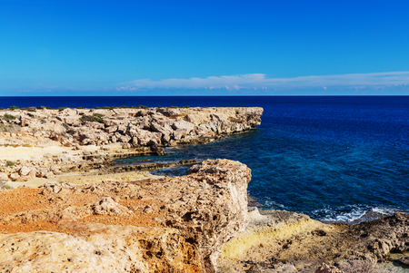 shore: Beautiful sea shore in Cyprus Stock Photo