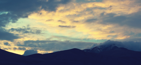 top mountain: Scenic Sunset in the mountains