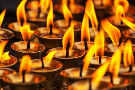 kathmandu: Candles at a temple