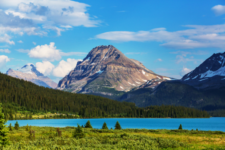 banff: Bow Lake, Icefields Parkway, Banff National Park, Canada