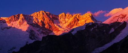 himalayas: Scenic view of mountains, Kanchenjunga Region, Himalayas, Nepal. Stock Photo