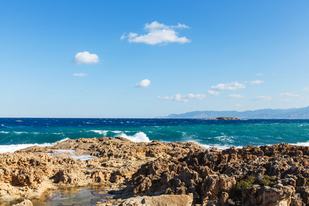 coastlines: Beautiful sea shore in Cyprus Stock Photo