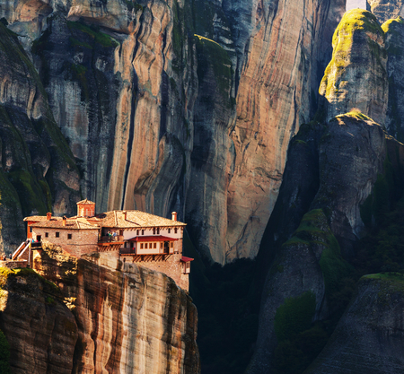 monasteri: Meteora monasteries in Greece. Instagram filter.