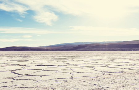 mud and snow: Salt desert in the Jujuy Province, Argentina